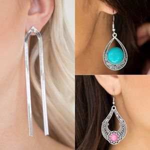 Jewelry - 3 Pair Beautiful Earrings Jewelry Nickel Lead Free
